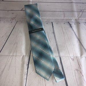 Silk Teal Striped Van Heusen Men's Dress Tie
